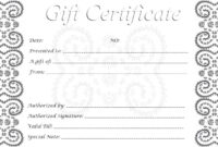 013 Free Gift Certificates Printable Template Ideas pertaining to Printable Gift Certificates Templates Free