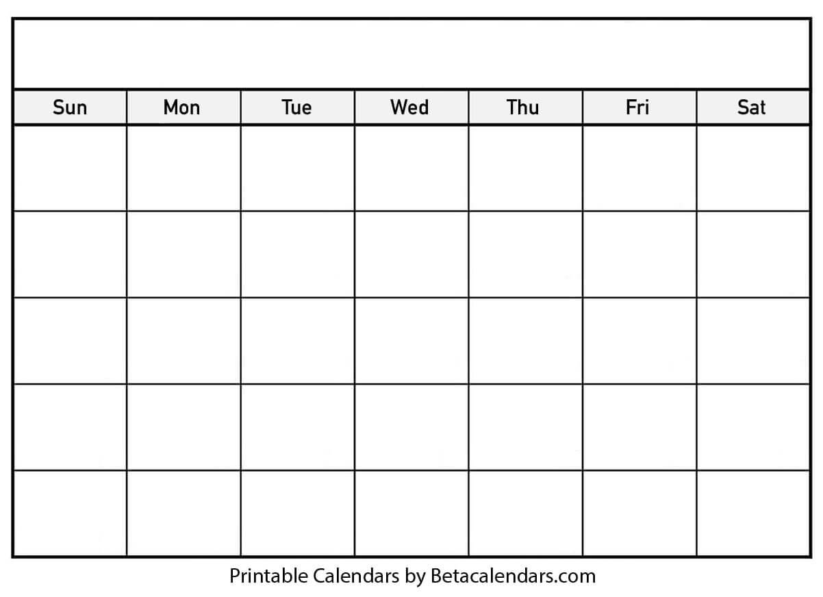 013 Printable Blank Calendar Template Ideas Singular Free Throughout Blank Calander Template