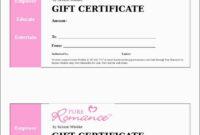 013 Printable Gift Certificates Templatesree Certificate inside Massage Gift Certificate Template Free Printable