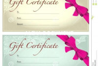 013 Salon Gift Certificate Template Amazing Ideas Printable Intended For Nail Gift Certificate Template Free