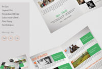 013 Template Ideas Bi Fold Brochure Free Half Page pertaining to Half Page Brochure Template