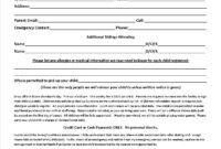 014 Free Printable Camp Registration Form Templates Hotel pertaining to Camp Registration Form Template Word