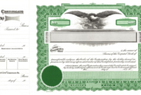 014 Free Stock Certificate Template Ideas Microsoft Word Inside Stock Certificate Template Word