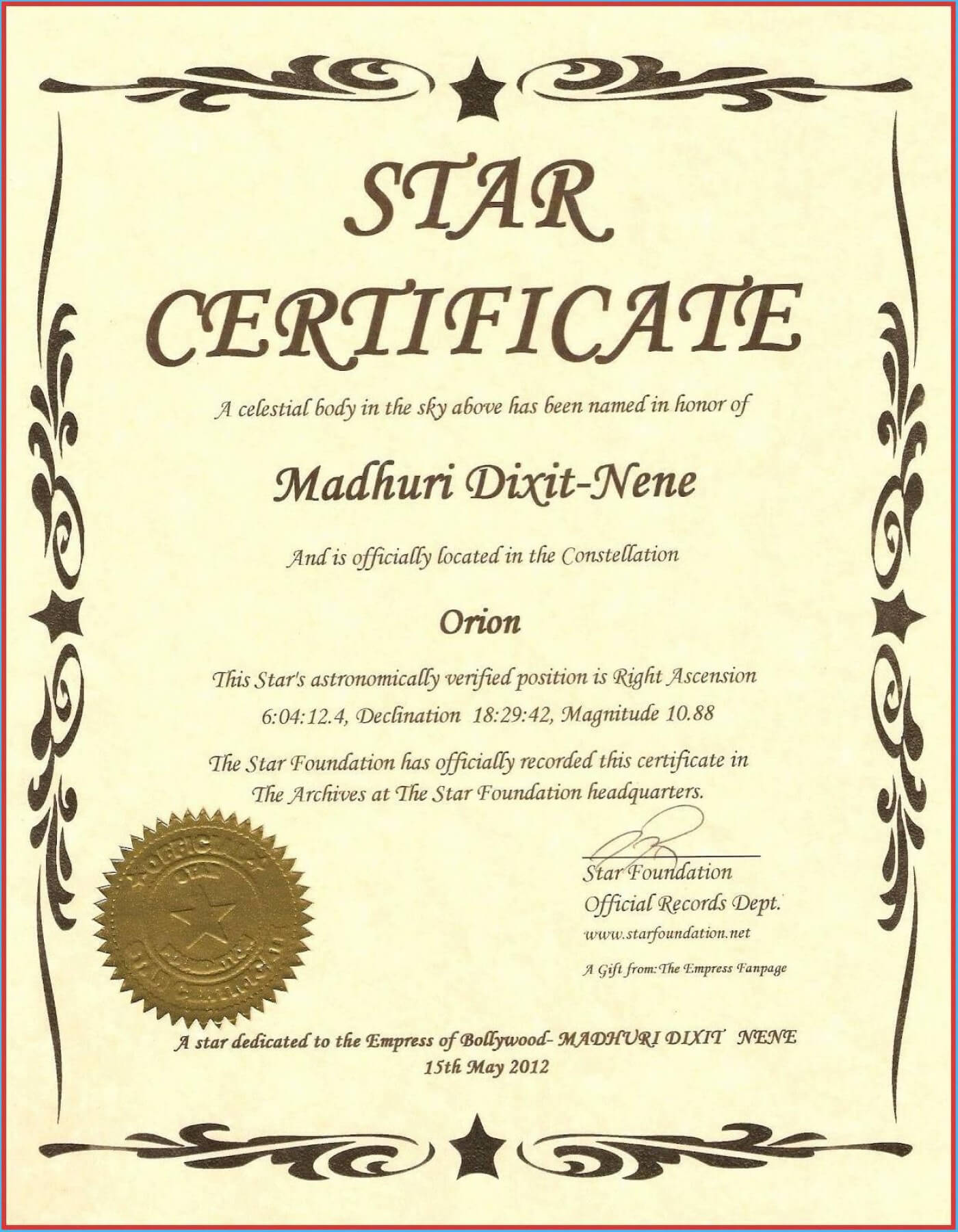 014 Template Ideas Free Printable Certificate Wonderful With Regard To Star Naming Certificate Template
