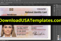 015 Id Card Template Photoshop Ideas Bulgaria Bulgarian with regard to Florida Id Card Template