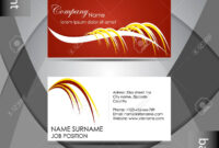 015 Template Ideas Professional Business Card Abstract Or inside Professional Name Card Template