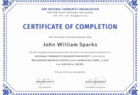 015 Template Ideas Training Completion Certificate Free with Free Training Completion Certificate Templates