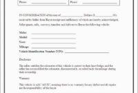 015 Vehicle Bill Of Sale Template Canada Trailer Excellent regarding Vehicle Bill Of Sale Template Word