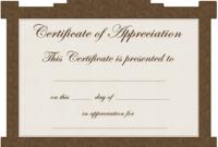 016 Editable Certificate Of Appreciation Template Printable in Iq Certificate Template