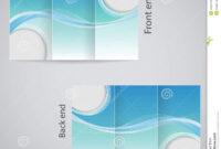016 Template Ideas Tri Fold Brochure Design Blue White for 3 Fold Brochure Template Free