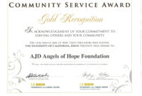 017 Community Service Certificate Template Ideas Years inside Running Certificates Templates Free