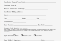 017 Credit Card Authorization Form Template For Hotel Ideas for Credit Card On File Form Templates