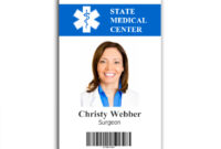 017 Free Id Badge Templates Template Ideas Placement with regard to Hospital Id Card Template