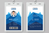 017 Free Identification Card Templates Template Ideas inside Portrait Id Card Template