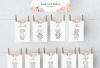017 Printable Seating Chart Template Wedding Table Plan Regarding Wedding Seating Chart Template Word