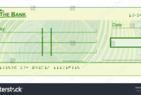 017 Stock Photo Blank Cheque Check Template Illustration Pdf intended for Blank Cheque Template Uk