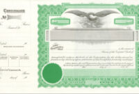 018 Corporate Stock Certificates Template Free Ideas intended for Corporate Share Certificate Template