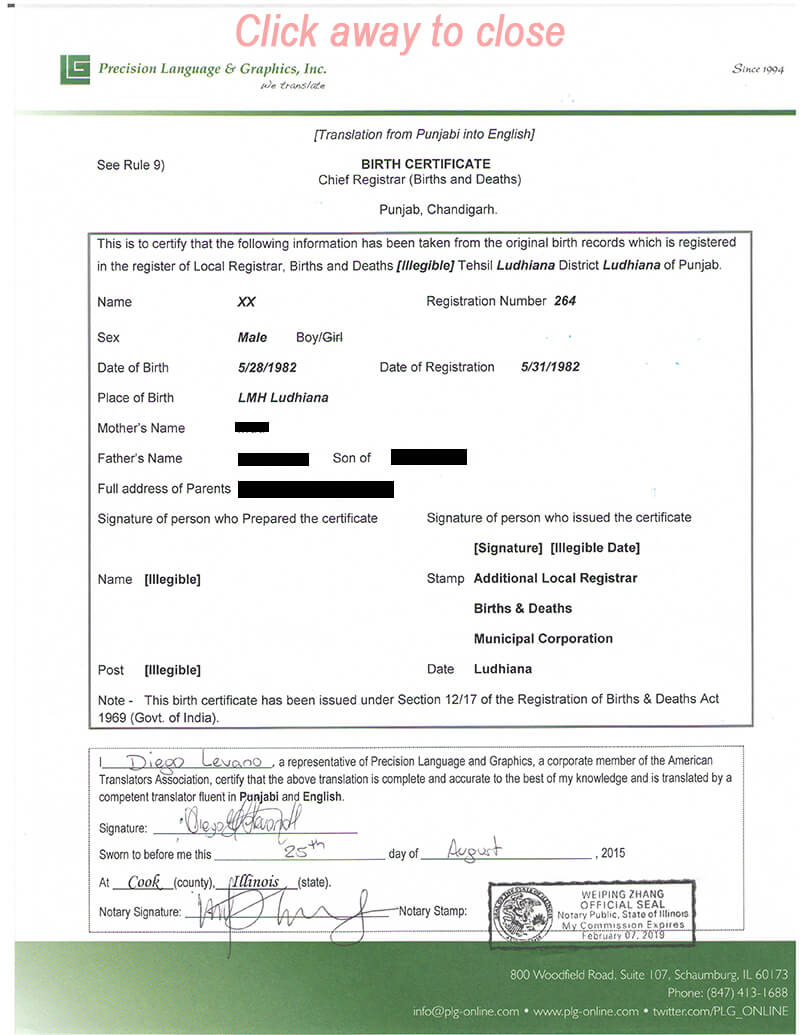 018 Free Birth Certificate Template Translate Mexican Sample Intended For Uscis Birth Certificate Translation Template