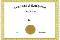 018 Recognition Certificate Template Free Beautiful Ideas throughout Employee Recognition Certificates Templates Free