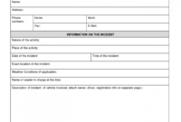 018 Template Ideas Incident Report Format 20Report for Medical Report Template Doc