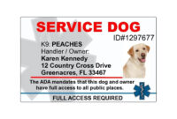 018 Template Ideas Service Dog Certificate Singular Id Free intended for Service Dog Certificate Template