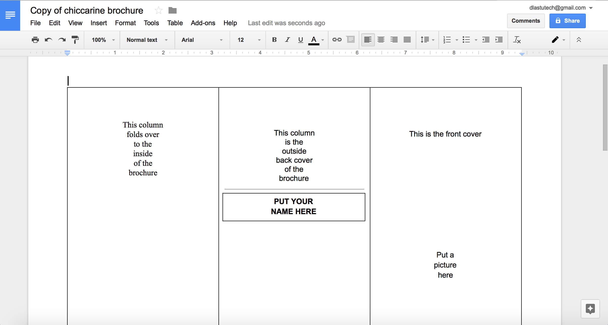 019 Blank Tri Fold Brochure Template Google Slides Ideas For Brochure Template For Google Docs