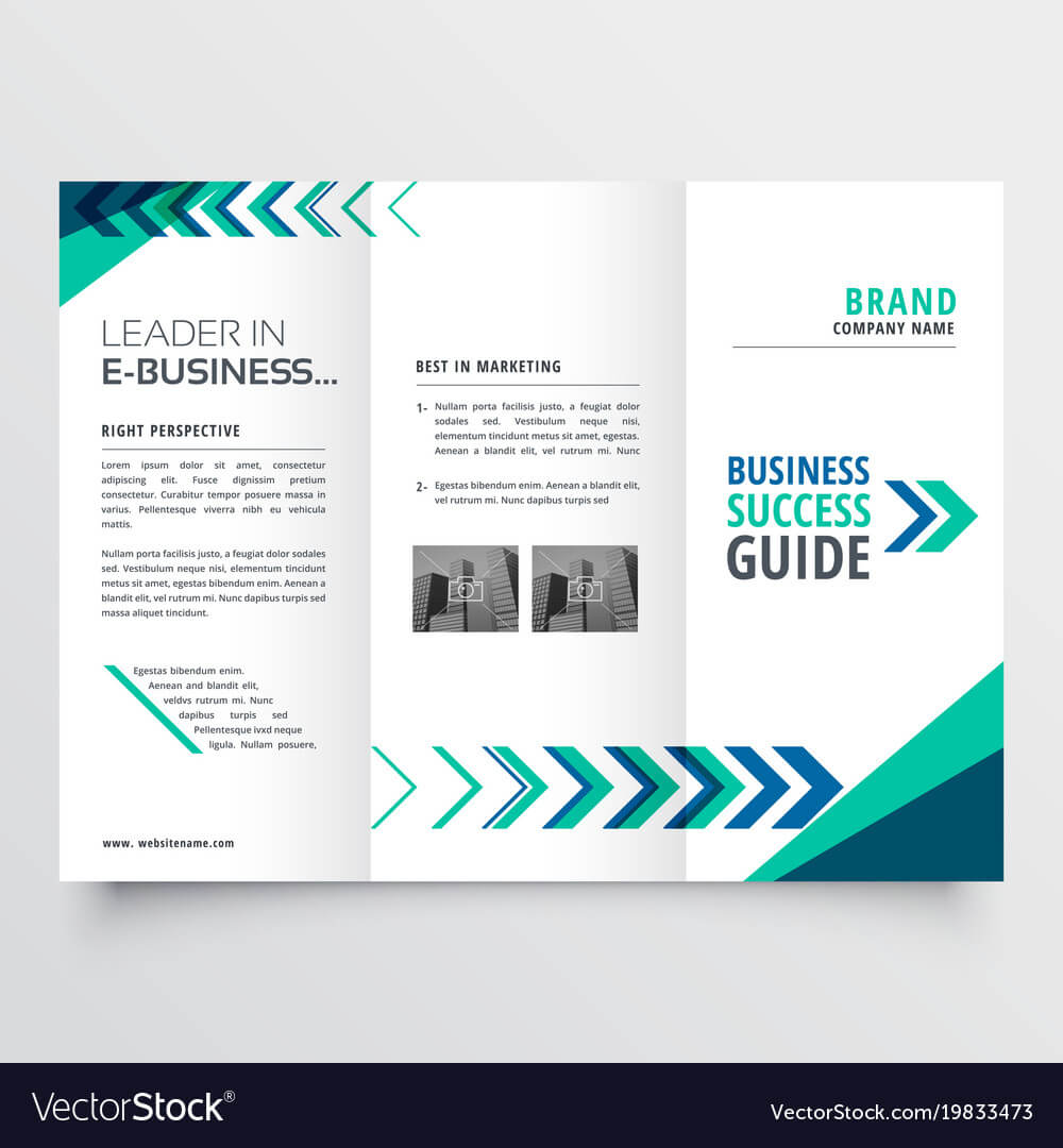 019 Business Tri Fold Brochure Template Design With Vector Inside Adobe Illustrator Brochure Templates Free Download