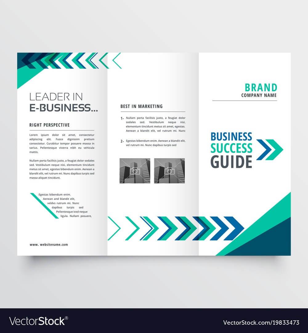 019 Business Tri Fold Brochure Template Design With Vector Regarding Brochure Templates Adobe Illustrator