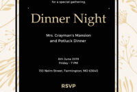 019 Free Dinner Invitation Template In Ms Word Publisher throughout Free Dinner Invitation Templates For Word