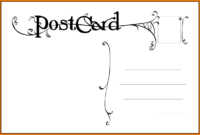 019 Template Ideas Blank Postcard Free Word Inside intended for Free Blank Postcard Template For Word