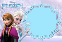 019 Template Ideas Frozen Birthday Invites Free Printable in Frozen Birthday Card Template