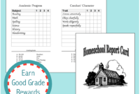 019 Template Ideas Printable Report Card Homeschool with regard to Homeschool Report Card Template