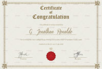 01F667 General Format Congratulations Certificate Template with Player Of The Day Certificate Template