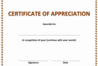 020 Army Certificate Of Achievement Template Microsoft Word regarding Template For Certificate Of Appreciation In Microsoft Word