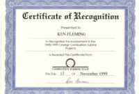 020 Recognition Certificate Template Free Ideas Beautiful regarding Template For Recognition Certificate