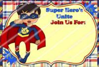 020 Template Ideas Pj Masks Layout 02 Superhero Invitation inside Superhero Birthday Card Template