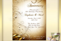 021 Template Ideas 50Th Wedding Anniversary Invitations with regard to Word Anniversary Card Template