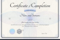 023 Certificate Of Completion Template Free Fascinating throughout Free Certificate Of Completion Template Word