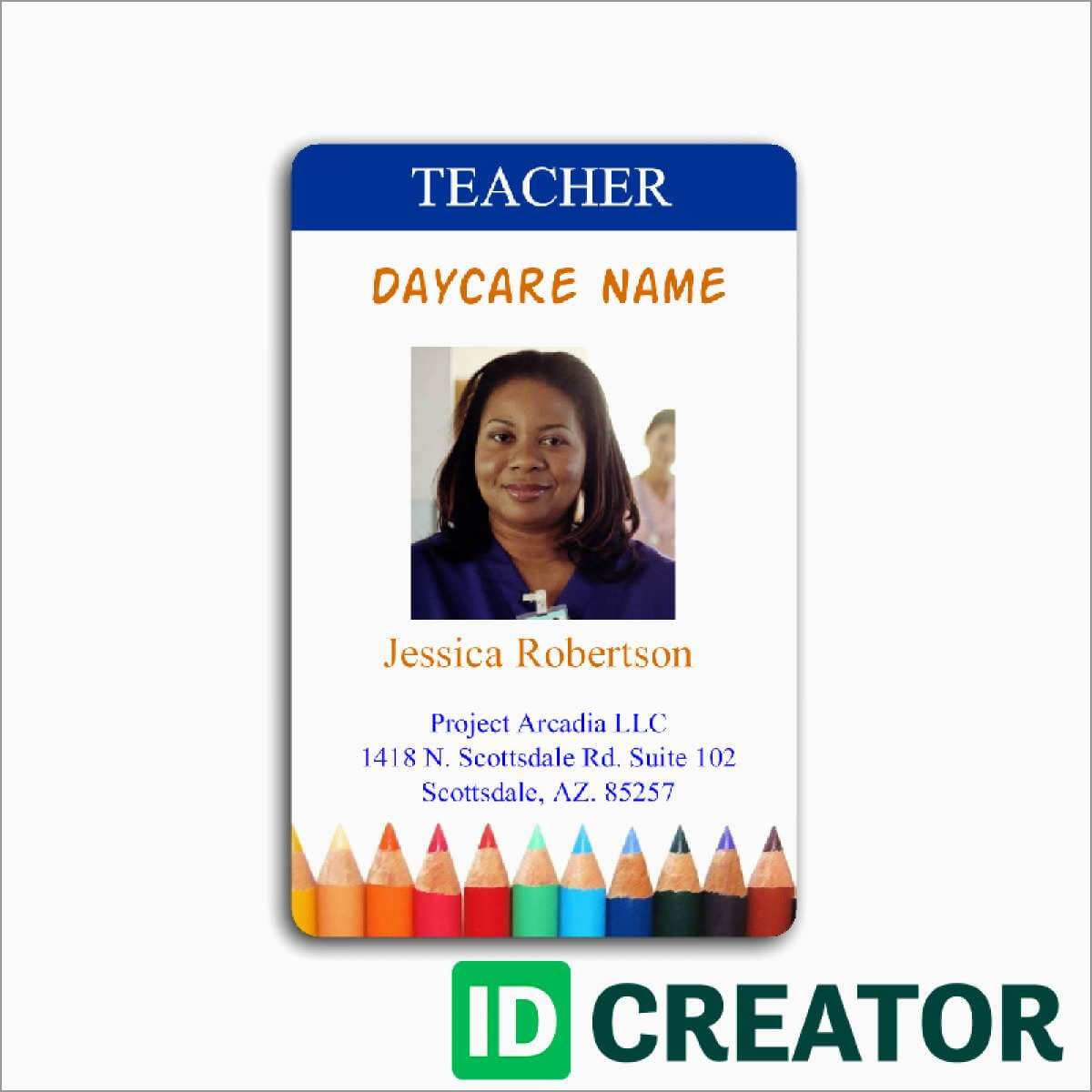 023 Teacher Id Card Photoshop Template Ideas Free Great Pertaining To Teacher Id Card Template