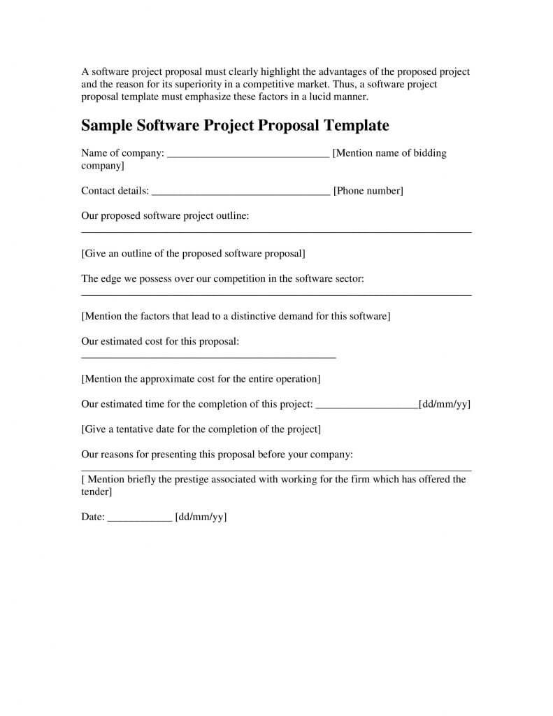 024 Sample Software Project Proposal Template Word Microsoft Intended For Software Project Proposal Template Word