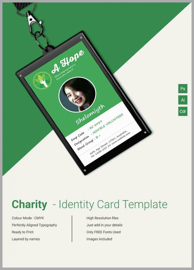 025 Free Printable Vertical Id Cards Templates Student Card Pertaining To Portrait Id Card Template