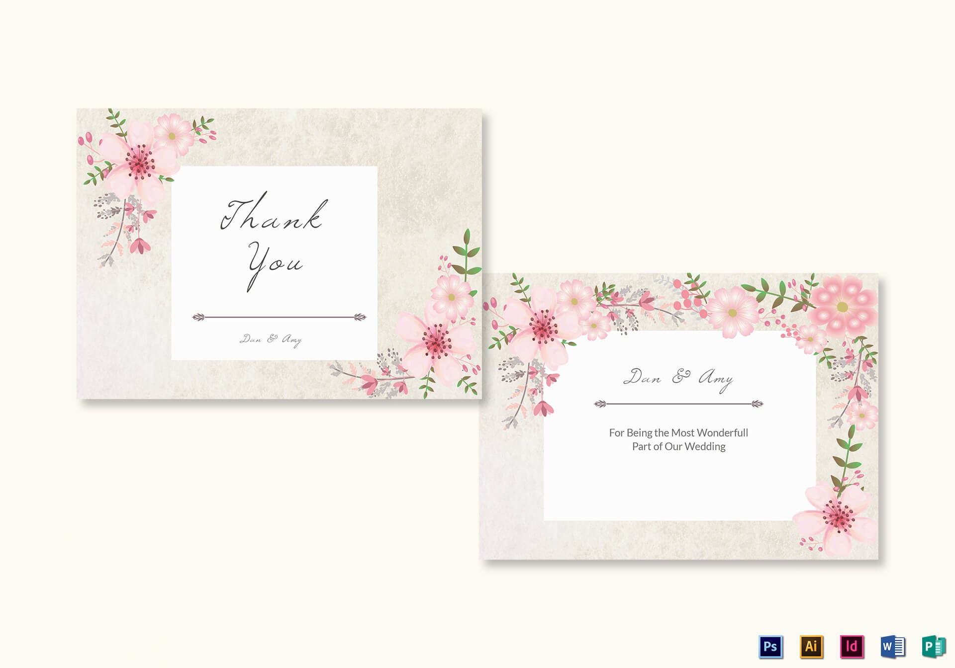 026 Thank You Cards Template Ideas Wedding Shocking Free For Thank You Card Template Word
