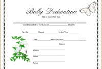 028 Baby Dedication Certificate Template Fake Birth Maker For Baby Dedication Certificate Template
