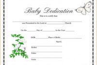 028 Baby Dedication Certificate Template Fake Birth Maker intended for Fake Birth Certificate Template