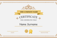 028 Free Blank Certificate Templates Template Ideas pertaining to Retirement Certificate Template