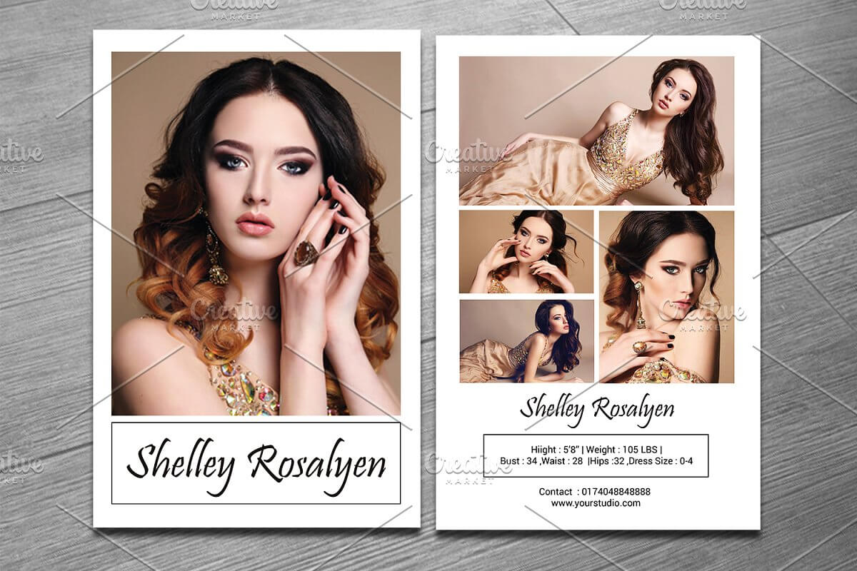 028 Model Comp Card Template Ideas Outstanding Psd Child For Free Model Comp Card Template Psd