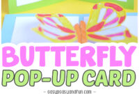 028 Pop Up Cards Templates Template Ideas Cute Butterfly in Diy Pop Up Cards Templates