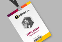 028 Student Id Card Templates Photoshop Creative Corporate Intended For Photographer Id Card Template