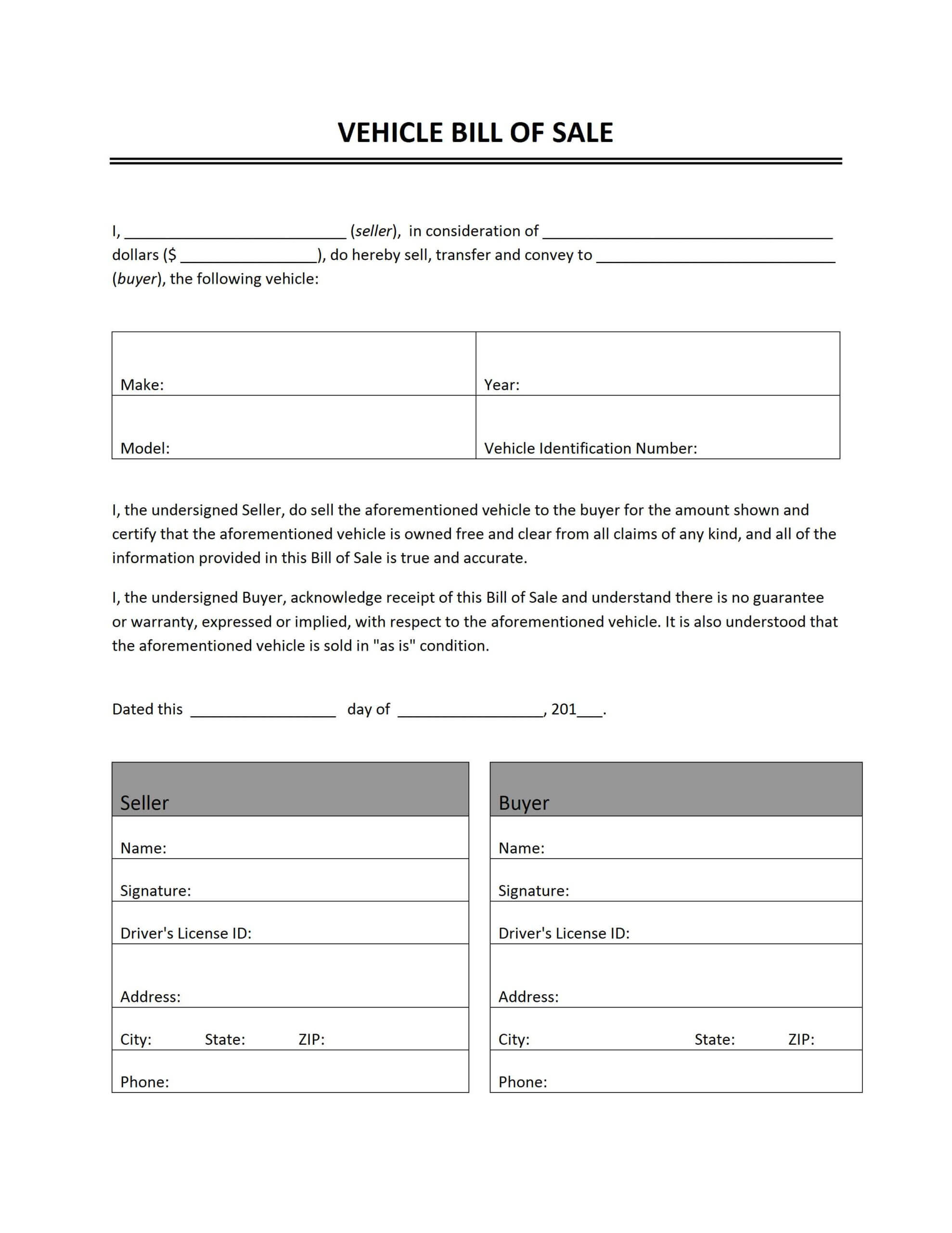 028 Template Ideas Generic Bill Of Sale Vehicle Unbelievable Throughout Vehicle Bill Of Sale Template Word
