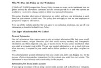 028 Template Ideas Privacy Policy Page Widgets For pertaining to Credit Card Privacy Policy Template